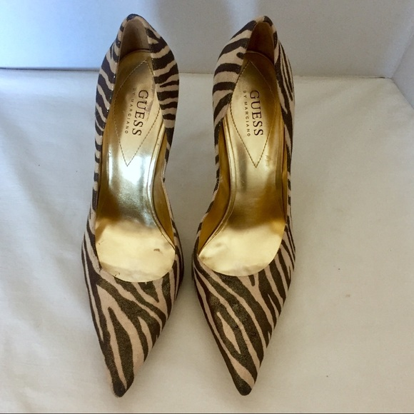 Guess by Marciano Shoes - Guess by Marciano Bronze/Gold Zebra Stilettos